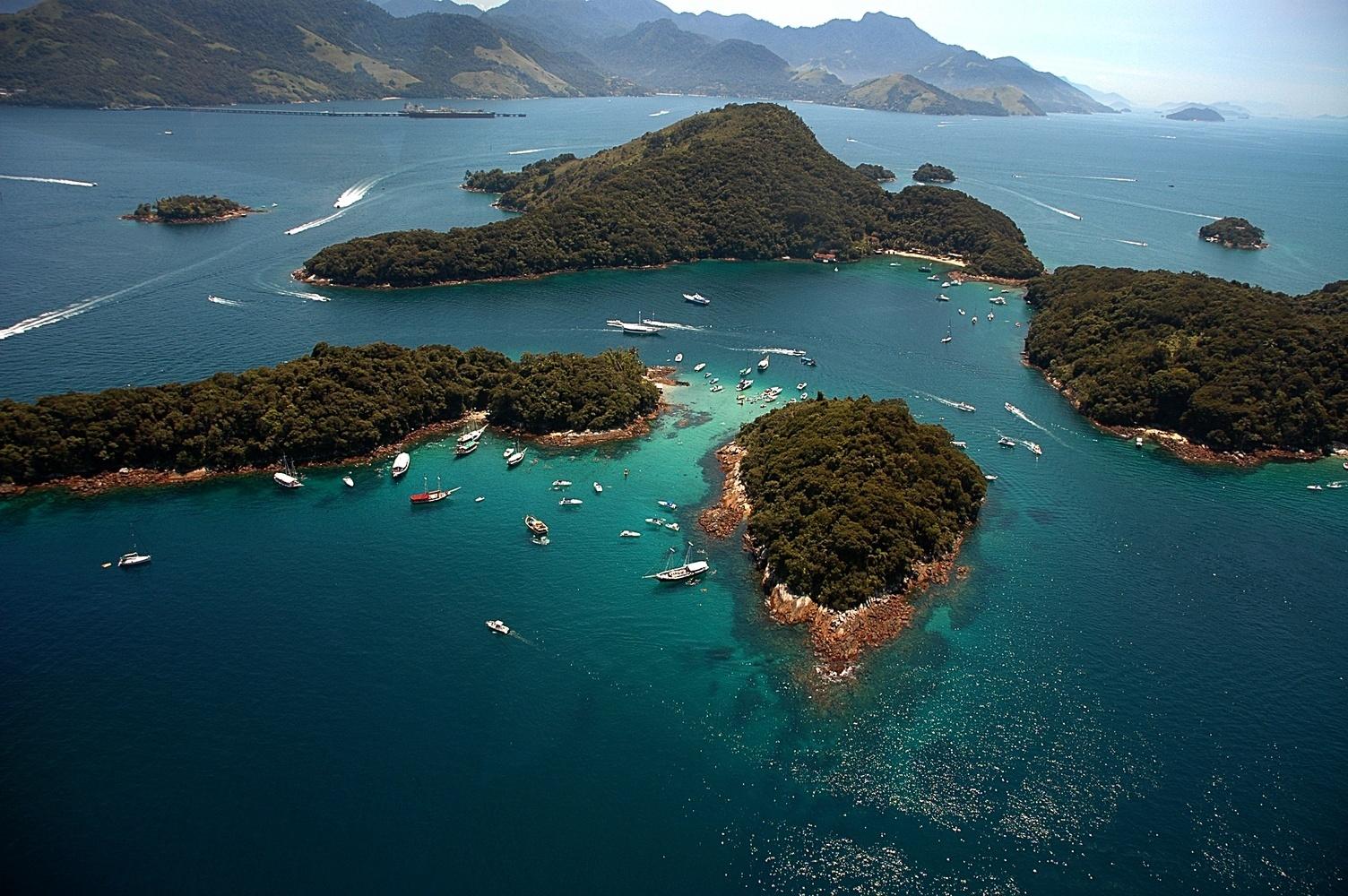 Vista aérea das ilhas de Angra dos Reis