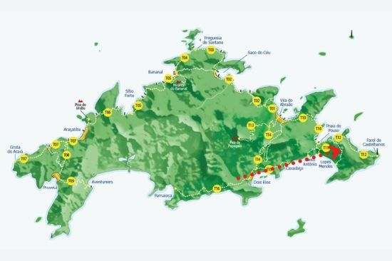 mapa ilha - trilha costa externa