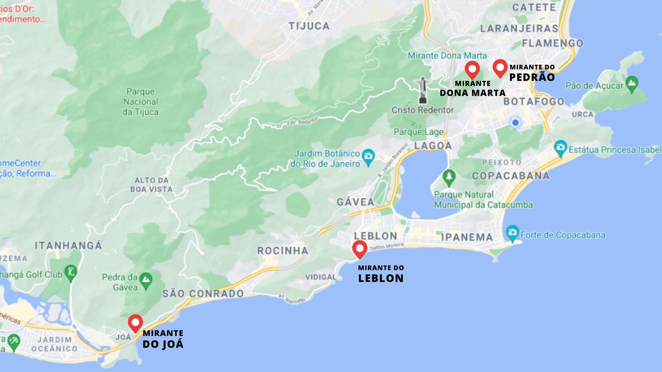 Mapa Mirantes Rio de Janeiro